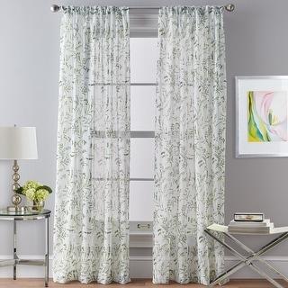 Santa Barbara Voile Rod Pocket Curtain Panel