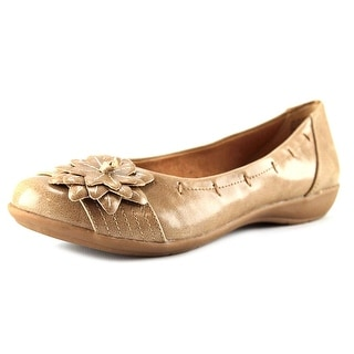 White Mountain Mum Women Round Toe Synthetic Beige Flats