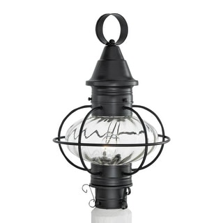 "Norwell Lighting 1611 Vidalia Onion Single Light 19"" Tall Outdoor Post Light with Glass Shade"