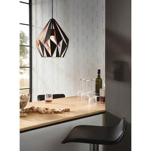 Eglo Carlton 1-light Black and Copper Pendant
