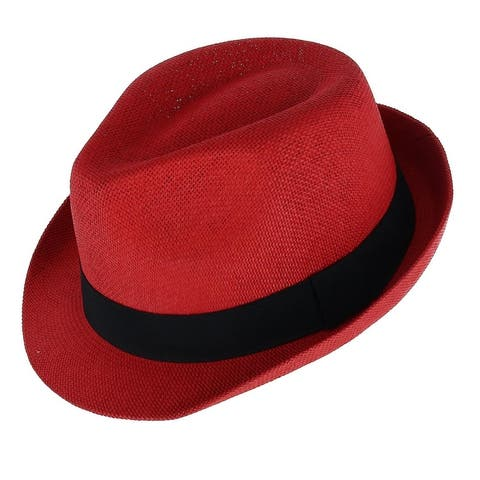 e6aa9eaabd393 color  Red · Angela   William Paper Straw Fedora with Black Band