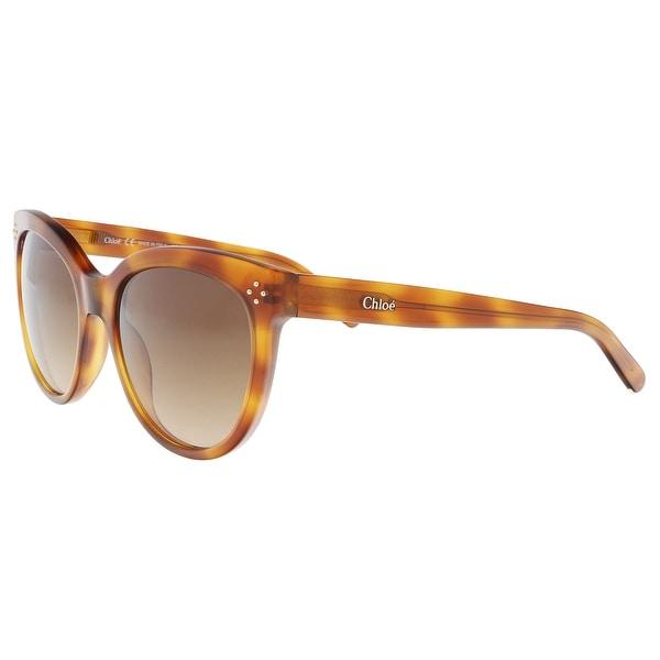Shop Chloe CE705S 725 Blonde Havana Cat Eye Sunglasses