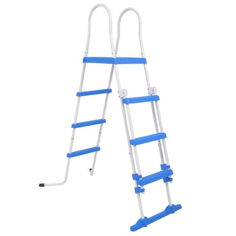 vidaXL Above-Ground Pool Safety Ladder with 3 Steps 48.0""