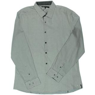 Kenneth Cole New York Mens Tab Collar Slim Button-Down Shirt - XL