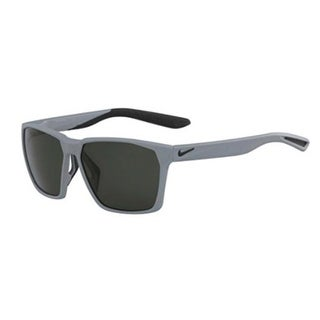 Nike Mens Maverick Matte Wolf Grey with Green Lens Sunglasses