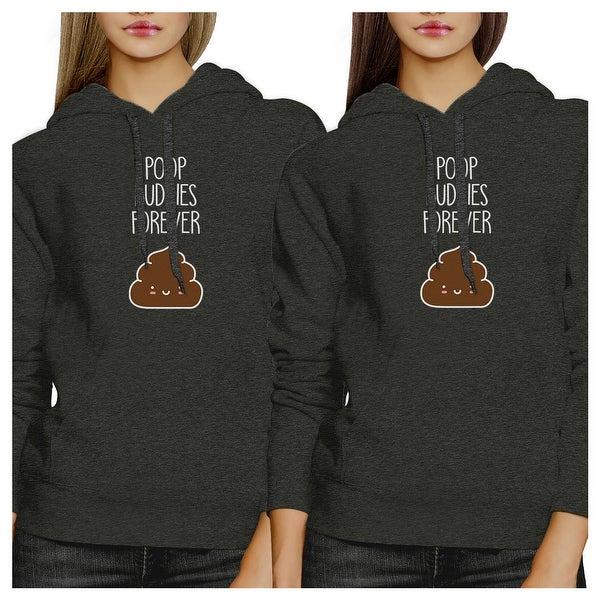 Shop Poop Buddies Unisex Dark Grey BFF Hoodies Matching Gift Set
