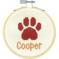 "4"" 14 Count - Paw Print Mini Counted Cross Stitch Kit"