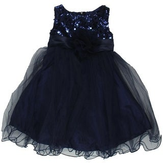 Kids Dream Sequined Toddler Girls Party Dress - 1/2