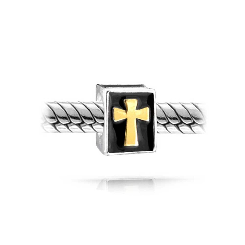 Blessed Silver Tone Dangle Bead Charm for European Bracelet