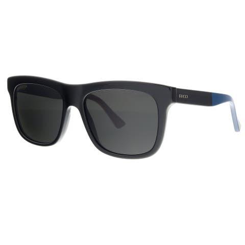 Gucci GG0158S-003 Black Rectangle Sunglasses - 54-17-145