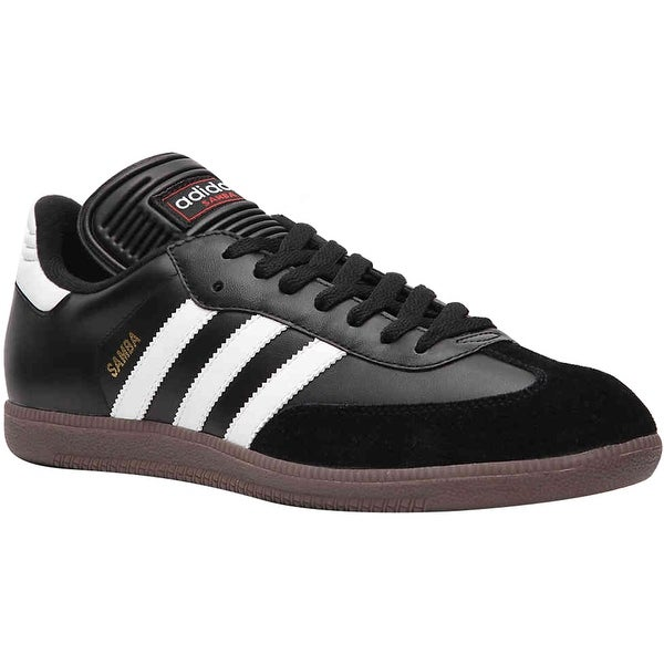 c34b85955bb Shop Adidas Samba Classic Leather Indoor Soccer Shoes - Black White ...