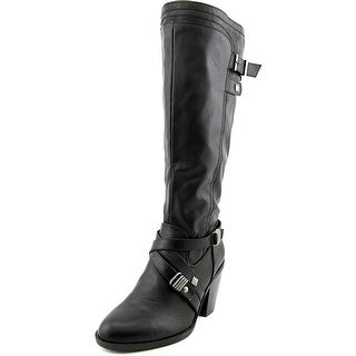 Rialto Madyson Wide Calf Women W Round Toe Synthetic Black Knee High Boot