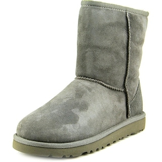 Ugg Australia Kids Classic Youth Round Toe Suede Gray Winter Boot