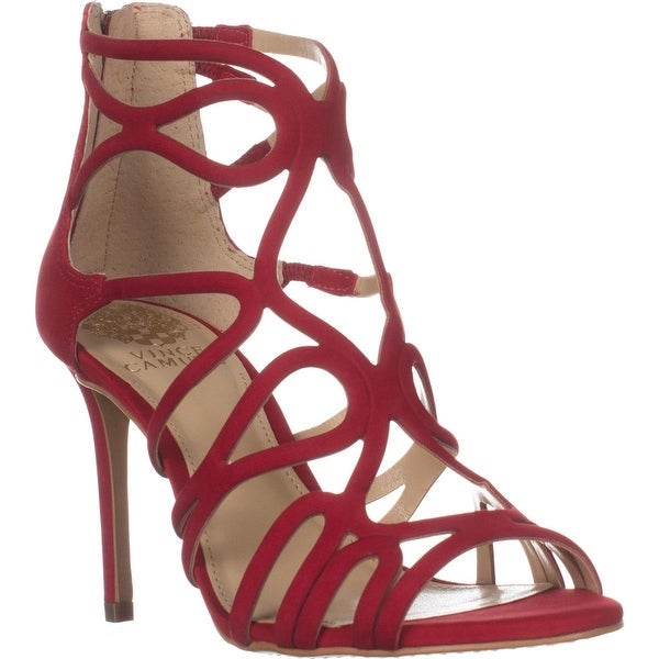 5341725205 Shop Vince Camuto Lorrana Peep Toe Heeled Sandals, Red Rose - On ...