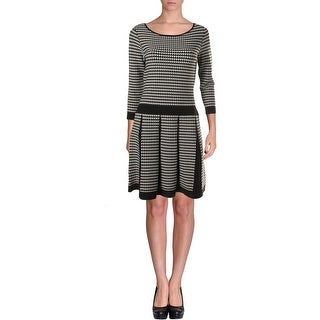 Lauren Ralph Lauren Womens Houndstooth 3/4 Sleeves Sweatshirt Dress