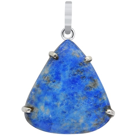 Sodalite Sterling Silver Pear Chain Pendant by Orchid Jewelry
