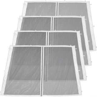 Zippered Mesh Sidewall Kits for 10x10-Foot Quick-Up Canopies