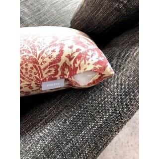 Pillow Perfect Red/ Tan Damask Throw Pillow