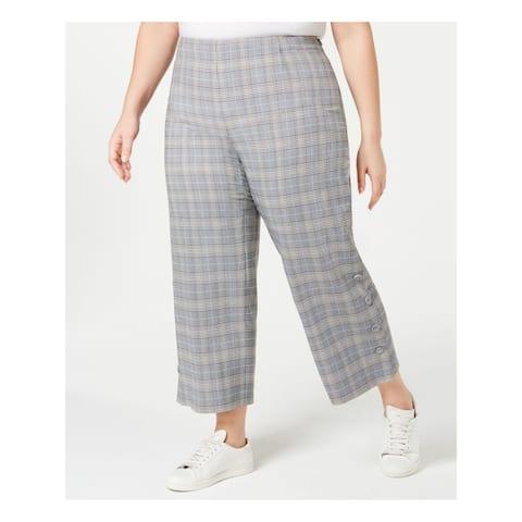 BAR III Womens Black Plaid Pants Size 22W