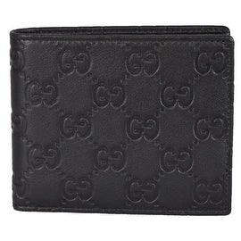 NEW Gucci Men's 260987 1000 Black Leather GG Guccissima Bifold Wallet