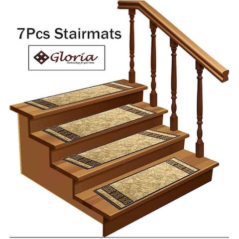 Gloria Rug Stair Treads Non Slip - 8.5x26