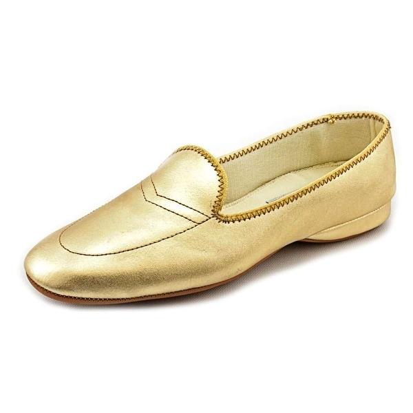 Daniel Green Meg Women W Round Toe Leather Gold Loafer