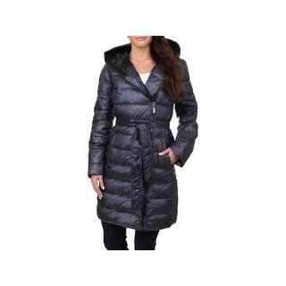 Ellen Tracy Womens Down Coat Winter Midi