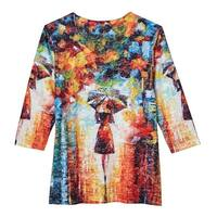 Women's Umbrella Girl 3/4 Sleeve T-Shirt