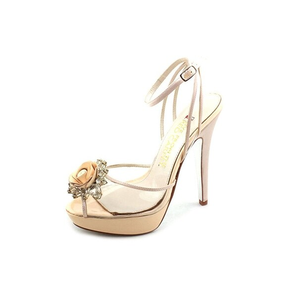 E! Live From The Red Carpet E0054 Women Open Toe Canvas Platform Heel