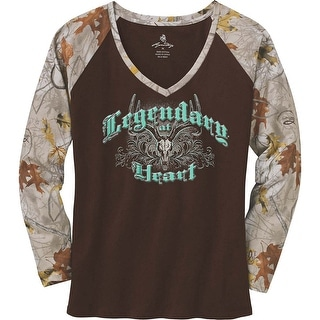 Legendary Whitetails Ladies Legendary At Heart Camo V-Neck Shirt