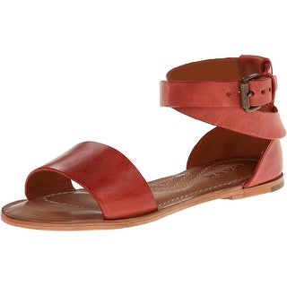 Trask NEW Red Women Shoe Size 7M Keira Leather Ankle Strap Sandal