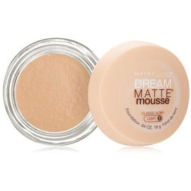 Maybelline Dream Matte Mousse Foundation, Classic Ivory, Light [2], 0.64 oz