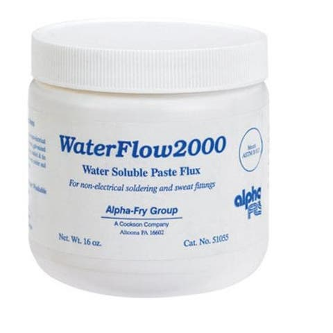 Alpha 51055 Waterflow 2000 Water Soluble Paste Flux, 16 Oz
