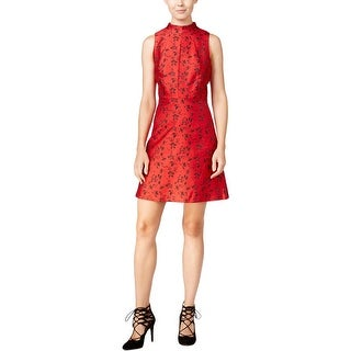 Kensie Womens Special Occasion Dress Mock-Neck Printed