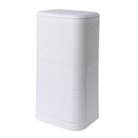 White Double Lid Inner Diaper Pail with Dual Air Lock System 16 Litre
