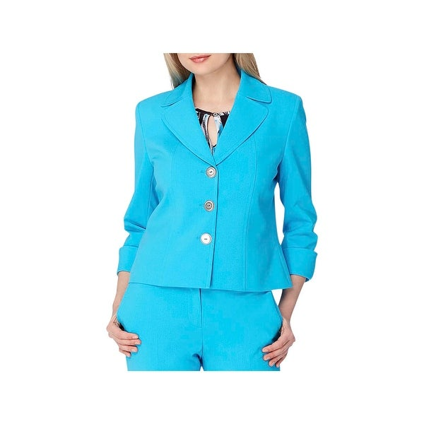 c393aa28075 Tahari ASL Womens Three-Button Blazer Cuffed Long Sleeves - Free ...