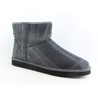 UGG Mens Classic Washed Denim Black Denim Snow Boots Size 18