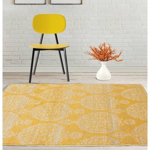 LoomBloom Persian Polypropylene Gabi Traditional Oriental Area Rug Gold, Beige Color