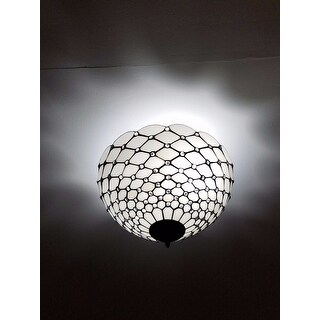 Shop amora lighting tiffany style jewel semi flush mount ceiling shop amora lighting tiffany style jewel semi flush mount ceiling fixture free shipping today overstock 10450829 aloadofball Choice Image