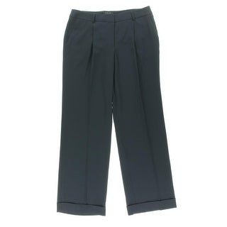 Jones New York Womens Pleated Cuffed Dress Pants