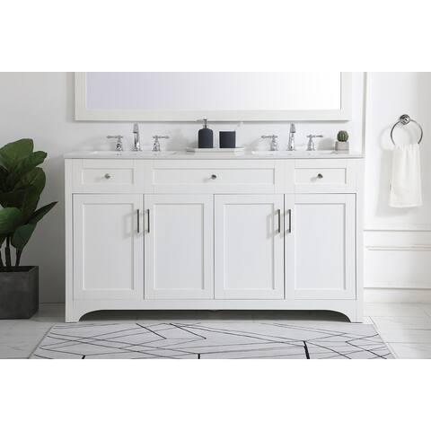 Berkshire Vanity Cabinet Set with Quartz Top