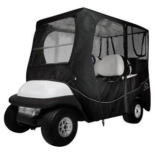 Classic Accesso Fairway Golf Cart Deluxe Enclosure - Black