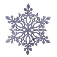 9.75 in. Glittered Snowflake Christmas Ornament, Navy Blue
