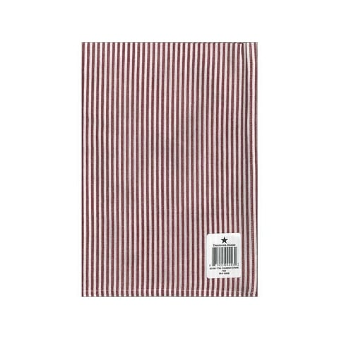 Dunroven House Towel 20x28 Chambray Stripe Red/W