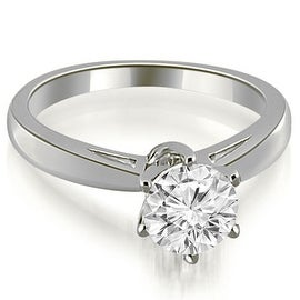 0.50 cttw. 14K White Gold Solitaire six Prong Diamond Engagement Ring