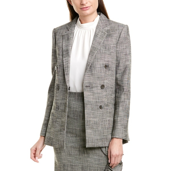 Rebecca Taylor Plaid Wool-Blend Blazer