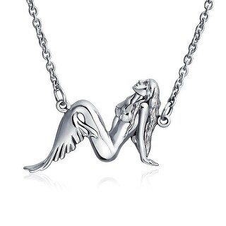 Bling Jewelry .925 Sterling Silver Mermaid Pendant Necklace 16 Inches