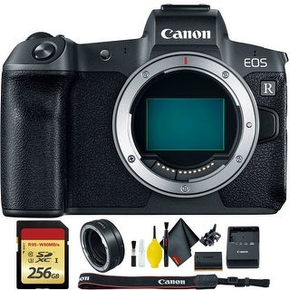 Canon EOS R Mirrorless Digital Camera (Body Only) + EF to R Mount Adapter + 256GB Memory Card Kit