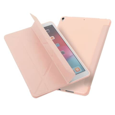 """Tablet Case for iPad Air 3, Pro 10.5"""", Multifold Stand, Magnetic Cover, Pink"""