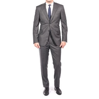 Luciano Barbera Men Two Button Wool Suit Grey
